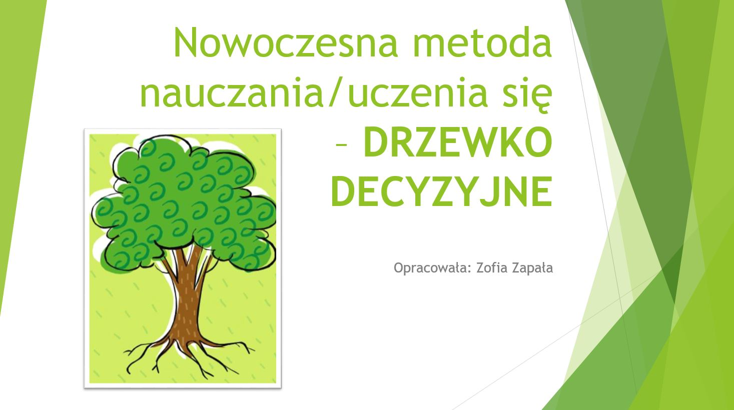 Drzewko decyzyjne - oprac. Zofia Zapała