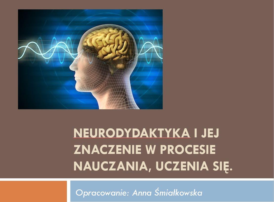 Neurodydaktyka i jej znaczenie w procesie nauczania, uczenia się - Anna Smiałkowska